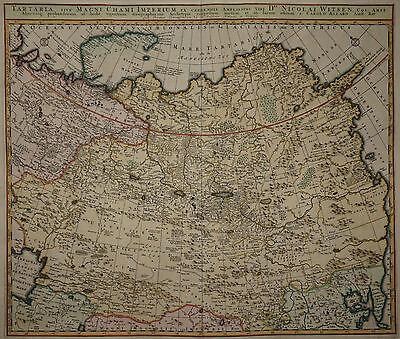 Tartaria - Russland -Rare Karte von Allard / Witsen um 1700 -Asien -Russia -Asia