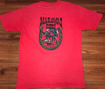 80s Tops, Shirts, T-shirts, Blouse   90s T-shirts Vintage 1980s Makawao Rodeo T Shirt Maui Cowboy Paniolo 80s XL Hawaiian Hawaii $40.00 AT vintagedancer.com
