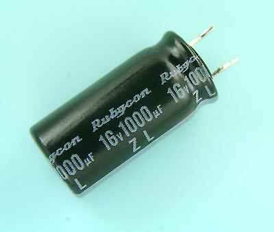 12pcs Rubycon Zl 1000uf 16v 105c Radial Capacitor New