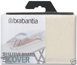 Brabantia Ironing Sleeve Board Replacement Cover Cotton ~ 2mm Foam ~ Ecru 204364
