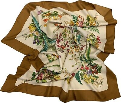 Vintage Gucci Silk Scarf Floral Accessories Collection