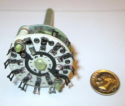 Ceramic Rotary Switch Shorting  3 Pole - 5 Positions Centralab  Nos 1 Pcs.