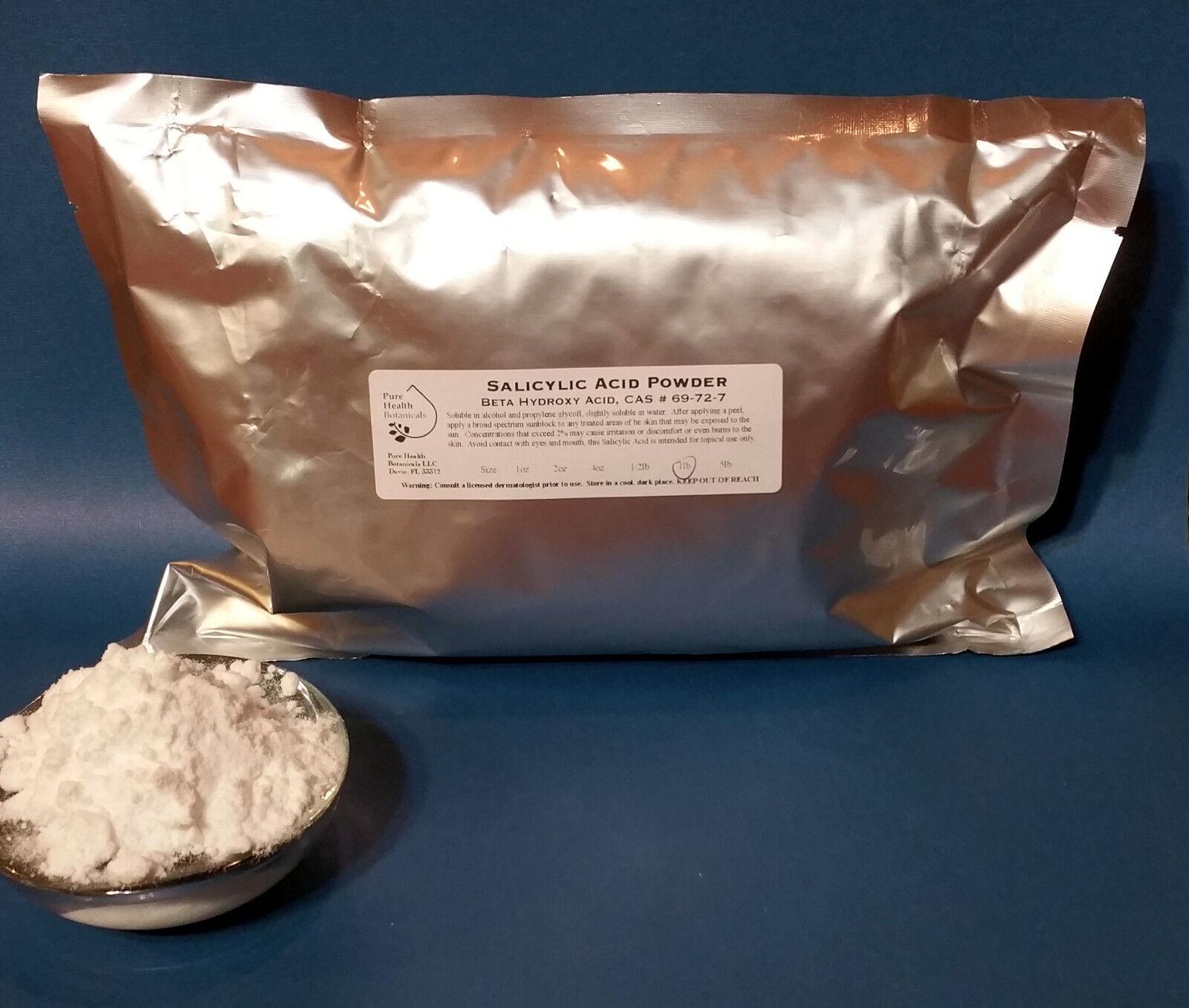 Salicylic Powder Beta Hydroxy Acid Skin Peel Acne, Warts, Ex