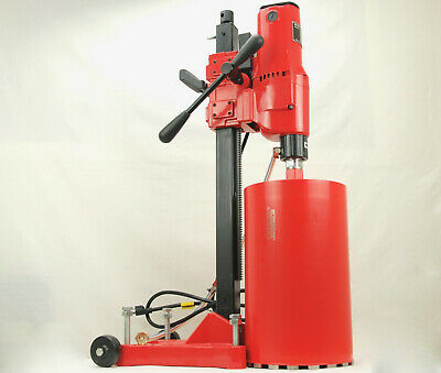 10 Bluerock Z-1rb Concrete Core Drill 2 Speed W Rolling Base Stand 2 Bits