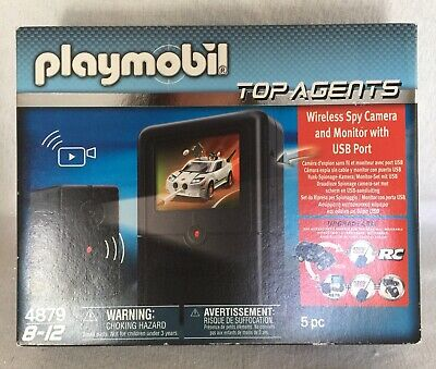 Playmobil 4879 Toy Top Agents Wireless Camera & Monitor w/ USB Port NEW, used for sale  Shipping to India