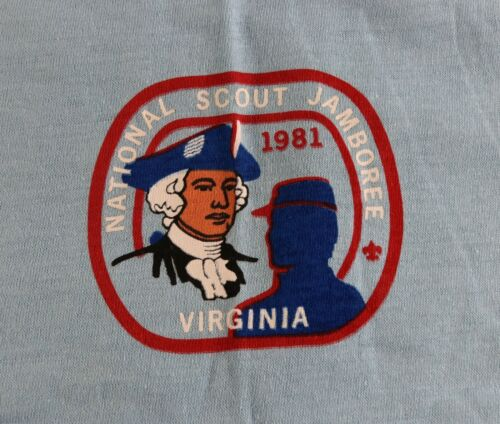 Vintage 1981 National Jamboree Virginia Size XL Shirt Boy Scouts of America BSA