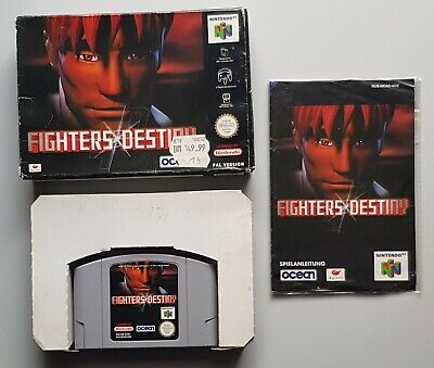 Fighters Destiny für das N64 mit Verpackung und Anleitung, PAL