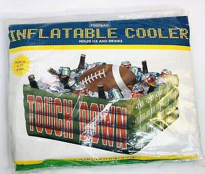 Touch Down Inflatable Drink Cooler Football Fan Holds up to 72 Drinks 29.5x14 in Fan Inflatable Cooler