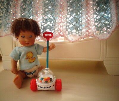 "Mini Fisher Price Corn Popper for Ellery Riley Kish 5-8"" baby doll polymer clay"