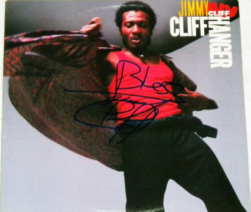 JIMMY CLIFF REGGAE LEGEND HAND SIGNED AUTOGRAPHED CLIFF HANGER ALBUM! PROOF +COA