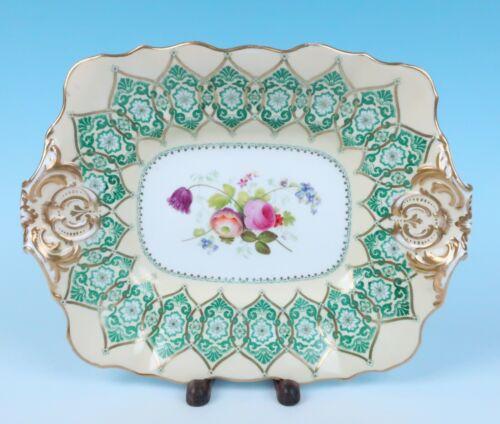 19thC Copeland Hand Painted Serving Platter Porcelain Tray Dessert Service Spode