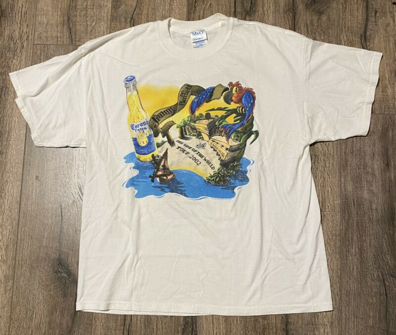 Vintage 2002 Jimmy Buffett Far Side Of The World Tour Concert XL Shirt Corona
