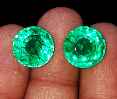 Natural Emeralds Certified Loose Gemstones 8 to 10 Cts 2 Pieces RK01