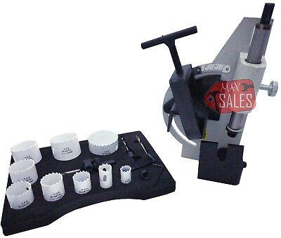 Tube Pipe Notcher 60 Degree Notch Up To 2-18 Tubing 13pc Bi Hole Saw Kit