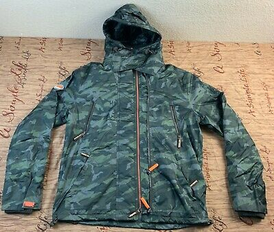 The Superdry Japan The Wind Attacker Engineered Camo Jacket Mens Size Large