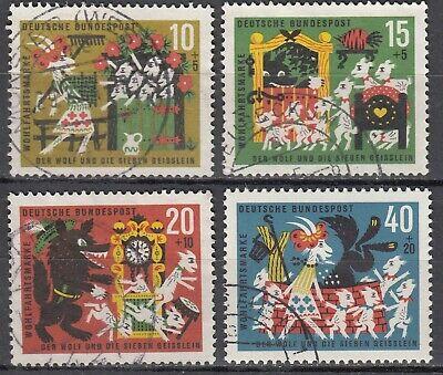 BRD 1963 MI NR 408 411 GESTEMPELT LUXUS