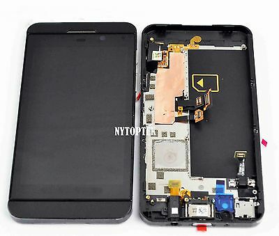 LCD Screen Display + Touch Digitizer Glass Assembly w/ Frame for Blackberry Z10, used for sale  Shipping to South Africa