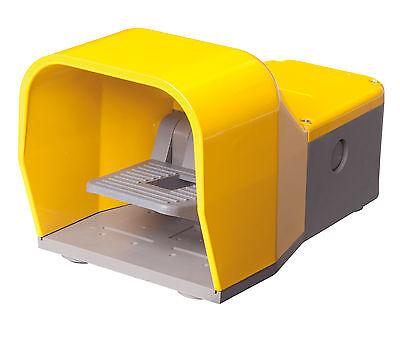 Fußschalter gelb mit Schutzhaube 1NO+1NC Sprungschalter JSFSYP11-01