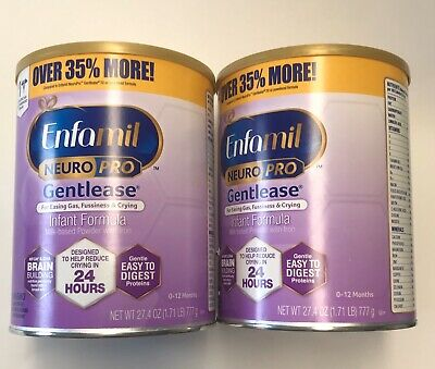 Can LOT Enfamil NeuroPro Gentlease Infant Formula Powder BIG 35% MORE Exp 2022
