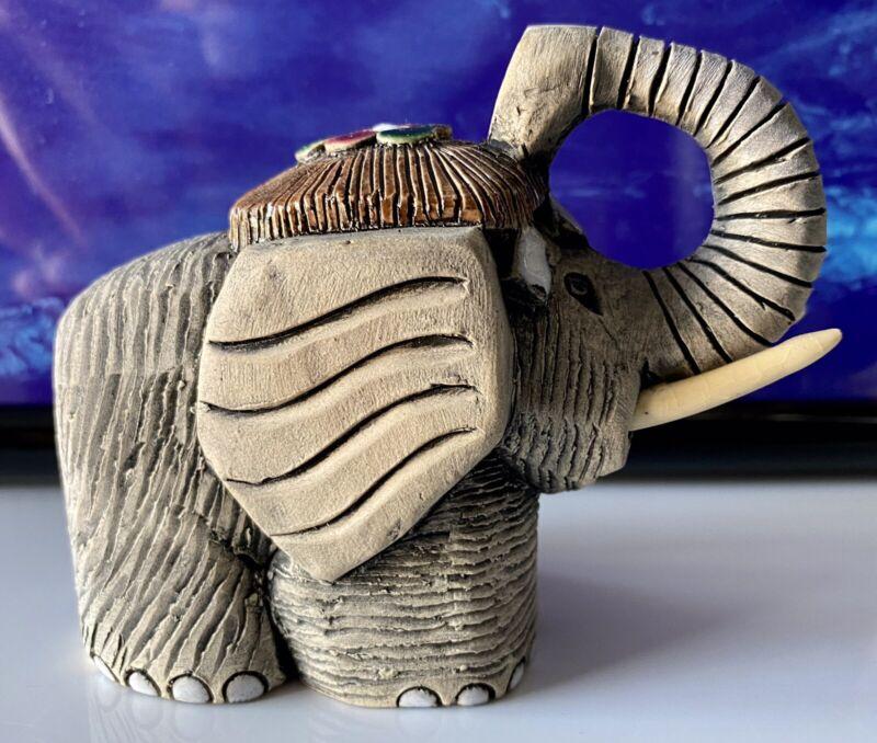 Sunrise Artesania Rinconada #8 Ceramic Tusk Medium Elephant Top Shelf aR!