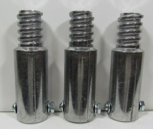 "3pc Metal Threaded Tips For 3/4"" (.75"") Wood Poles. (Buy 3 Get 1 Free)  N"