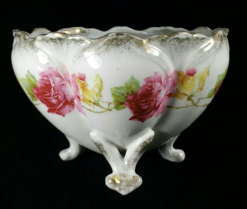 Antique German Porcelain Footed Bowl