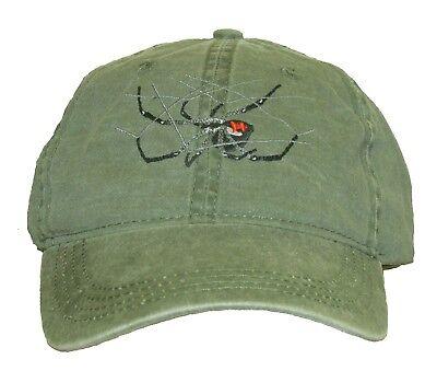 Black Widow Spider Embroidered Cotton Cap NEW -