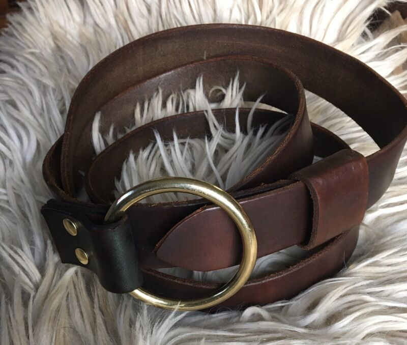 Billy Joe Shaver Leather Belt Cinch Western Belt RRL Cowboy