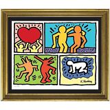 Keith Haring Signed & Hand-Numbered Limited Edition Lithograph Print (unframed)