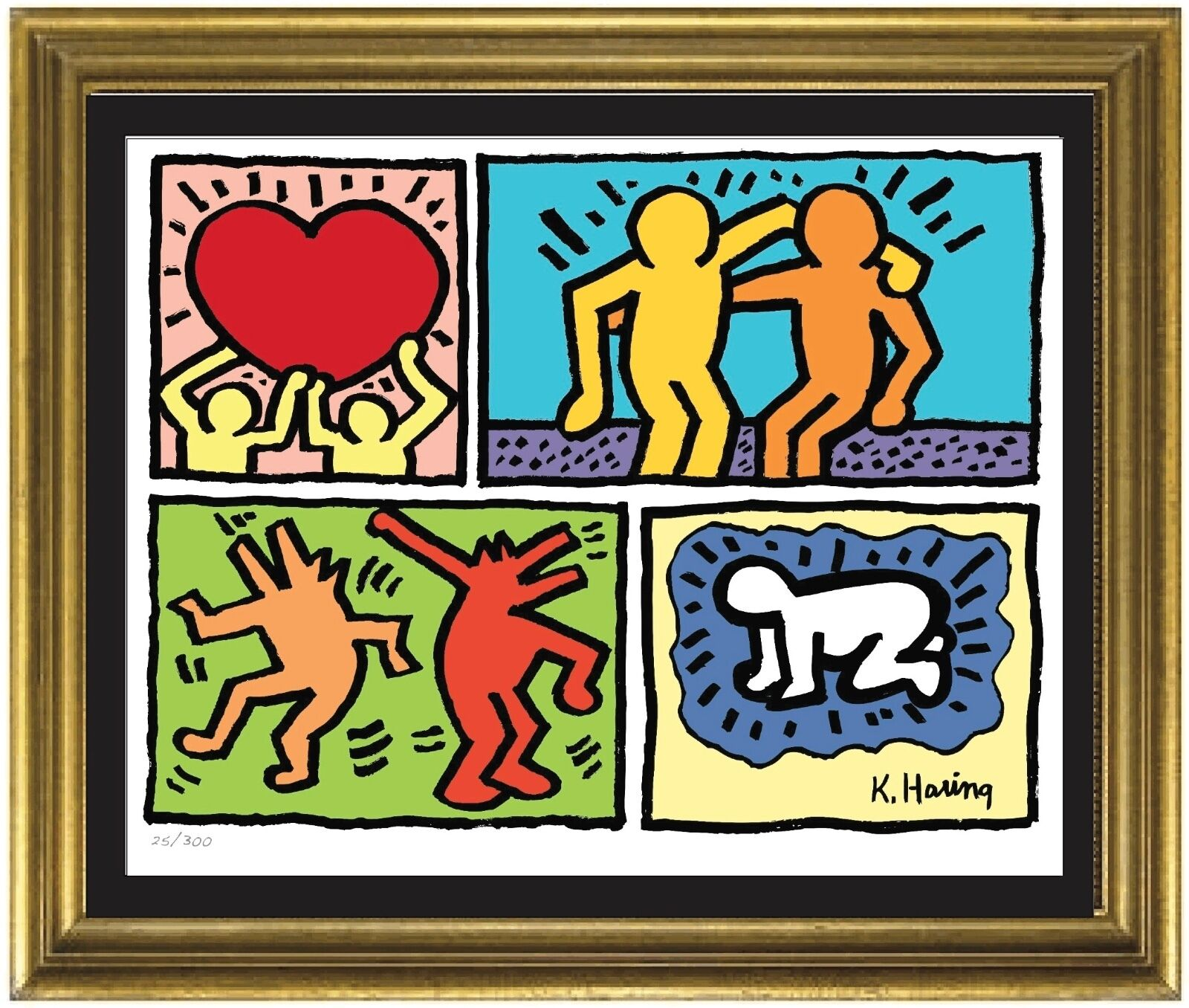 Keith Haring Plate-Signed & Hand-Numbered Limited Edition Litho Print (unframed)