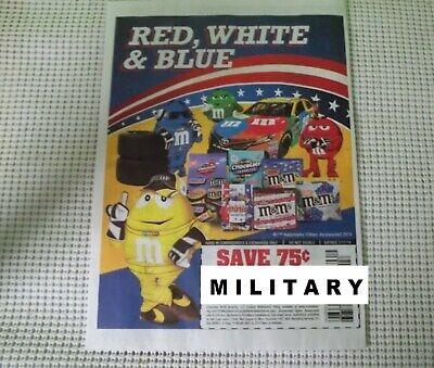 2019 magazine ad M&M's RED WHITE & BLUE mms M&M candy advert print NASCAR m&ms - White M&ms