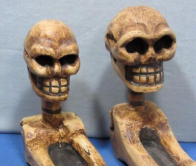 Skeleton & Skull Incense Holder ~ Candy Dish ~ UNIQUE