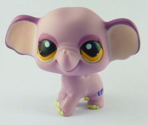 LPS Littlest Pet Shop #1086 Purple Elephant w/ Gold-Brown Eyes