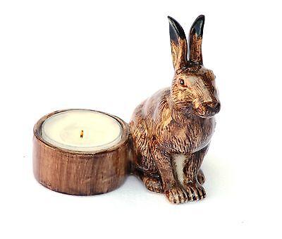 Hare Tea light nighlight holder by quail ceramic NEw Boxed Shooting Gift