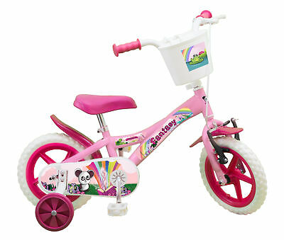 Kinderfahrrad Fantasy 12 Zoll Kinder Mädchen Fahrrad rosa mit Korb u. Stützräder ()
