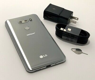 LG V30 ThinQ VS996 - 64GB - Cloud Silver - for Total / Page Plus / Verizon
