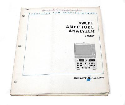 Manual Hewlett Packard HP 8755A Swept Amplitude Analyzer, Operation & Service