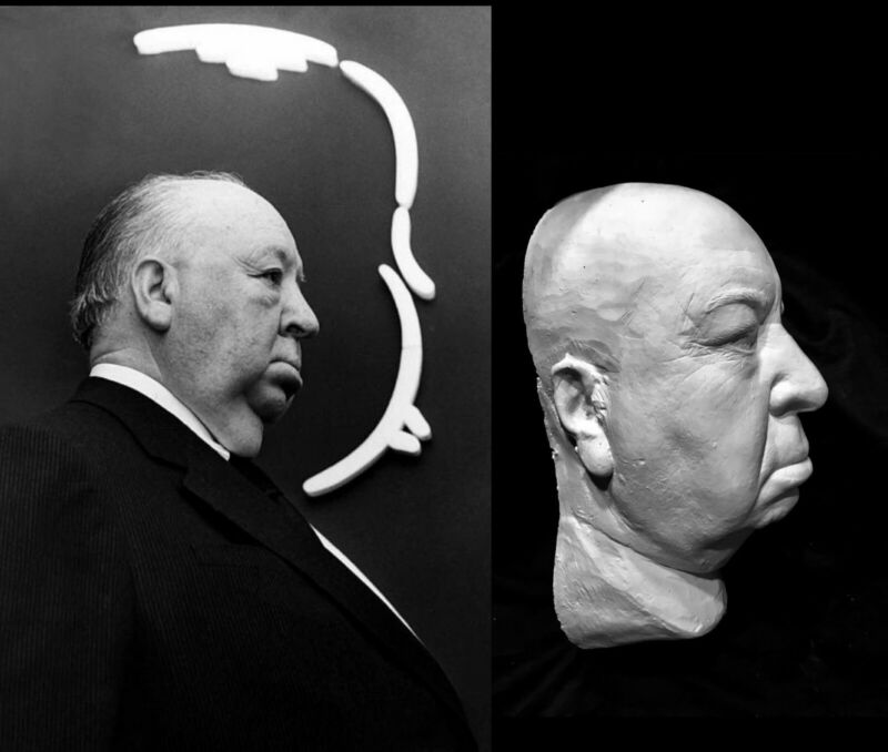 Alfred Hitchcock Life Mask Psycho The Birds Master of Suspense Great Detail !!!!