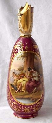 C1900 VIENNA HAND PAINTED EWER WITH JUPITER AND CALLISTO SIGNED A. CHRISTRY A/F