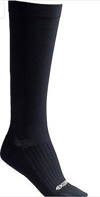 """Dissent Supercrew Nano 6/"""" Compression socks Black XL Men 12+"""