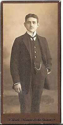 CDV photo Feiner Herr - Hannover Linden 1910er
