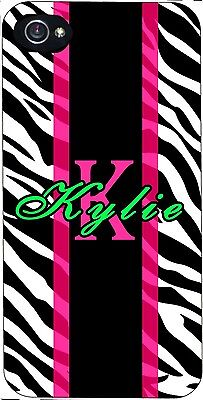 Custom Zebra iPhone 4 5 5c 6 iPod touch 4 5 6 personalized printed case cover Custom Ipod Cases