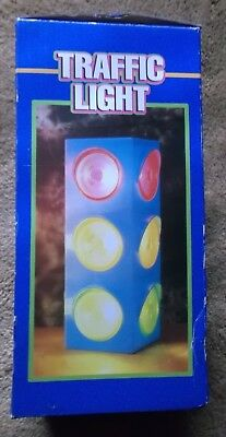 Toy Traffic Light (Stand Alone or Wall Mount Blinking Traffic Light  Stop Go Ready Party)