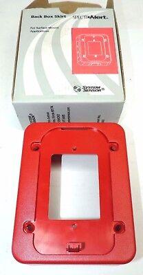Lot Of 4 System Sensor Bbs Spectralert Advance Indoor Wall Back Box Skirt Red