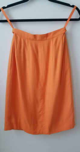 Vintage Orange skirt  Stephen Sprouse Rayon Silk Collectors Item Rare size 4 90s