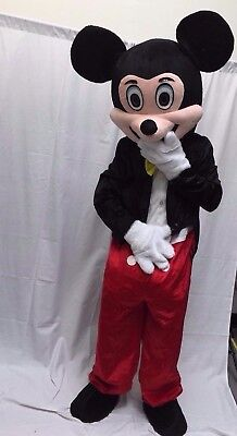 Mickey Mouse Mascot Costume Disney Halloween Party Adult Size Birthday Boy USA   - Adult Mickey Mouse Halloween Costume