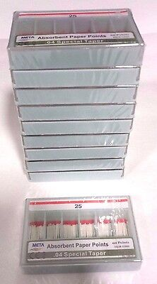 Dental Paper Points .04 Taper 25 10x Of 60packtotal 600pieces -meta