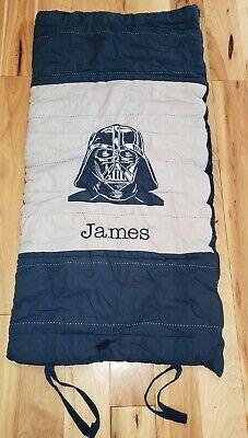 Pottery Barn little Kids Star Wars Darth Vader sleeping bag JAMES blue PERFECT!](Little Boys Sleeping Bags)