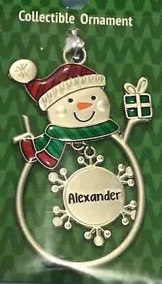 Ganz collectible snowman ornament find your Personalized name Choose A-Z New Personalized Snowman Ornament