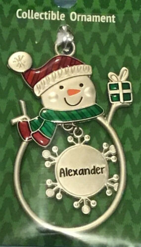Ganz collectible snowman ornament find your Personalized name Choose A-Z New